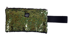 Green Sequins Clutch Bag