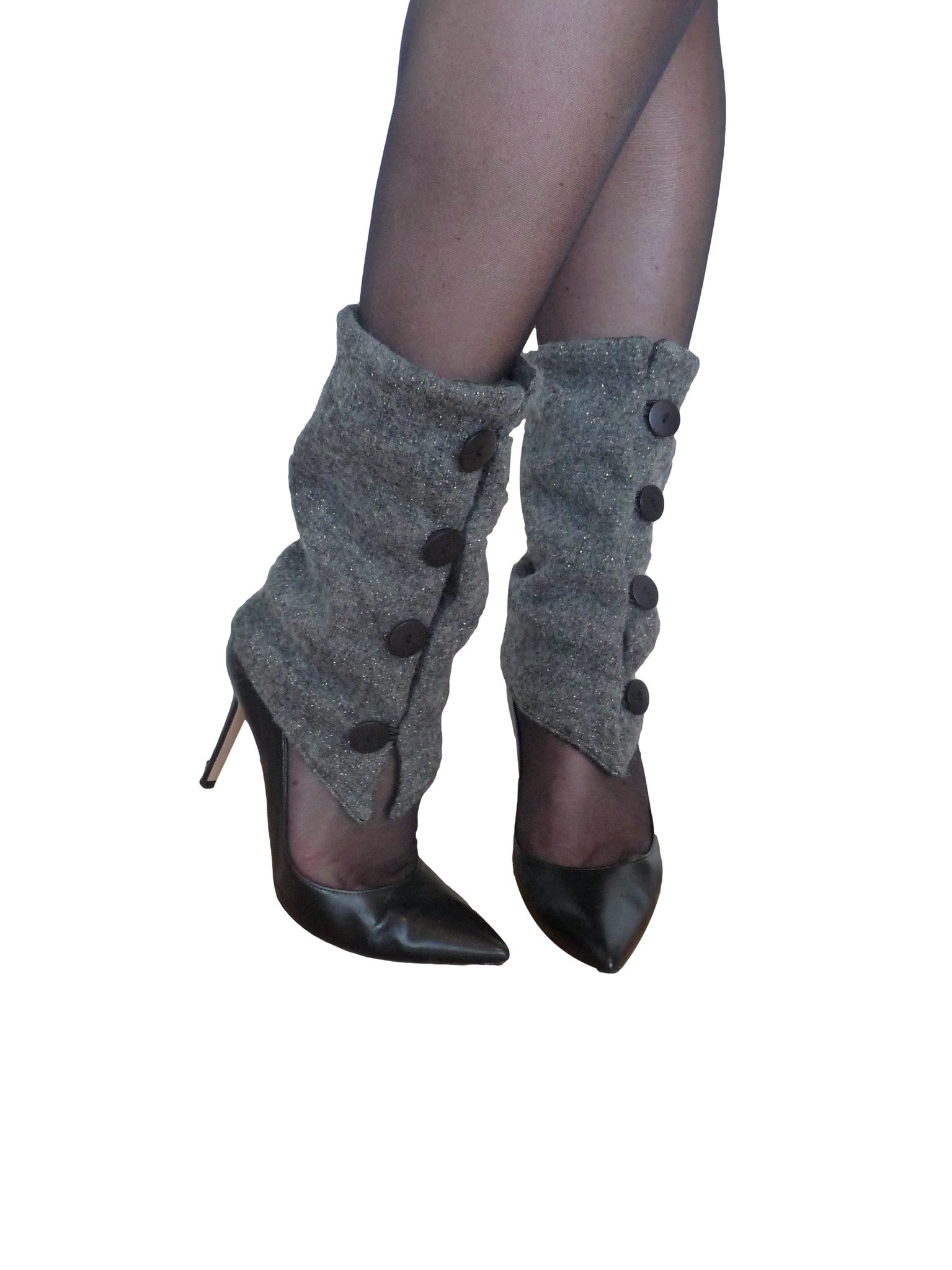 Grey and Gold Leg Warmers