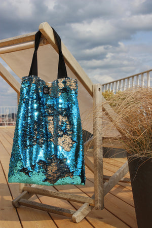 Sea sequins Square Bag