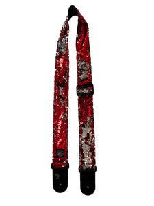 Red sequins Guitar Strap