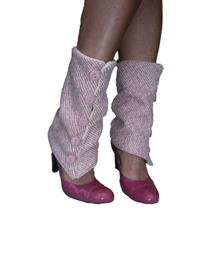 Pink Tweed Leg Warmers