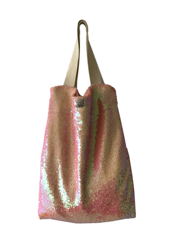 Pink sequins Square Bag