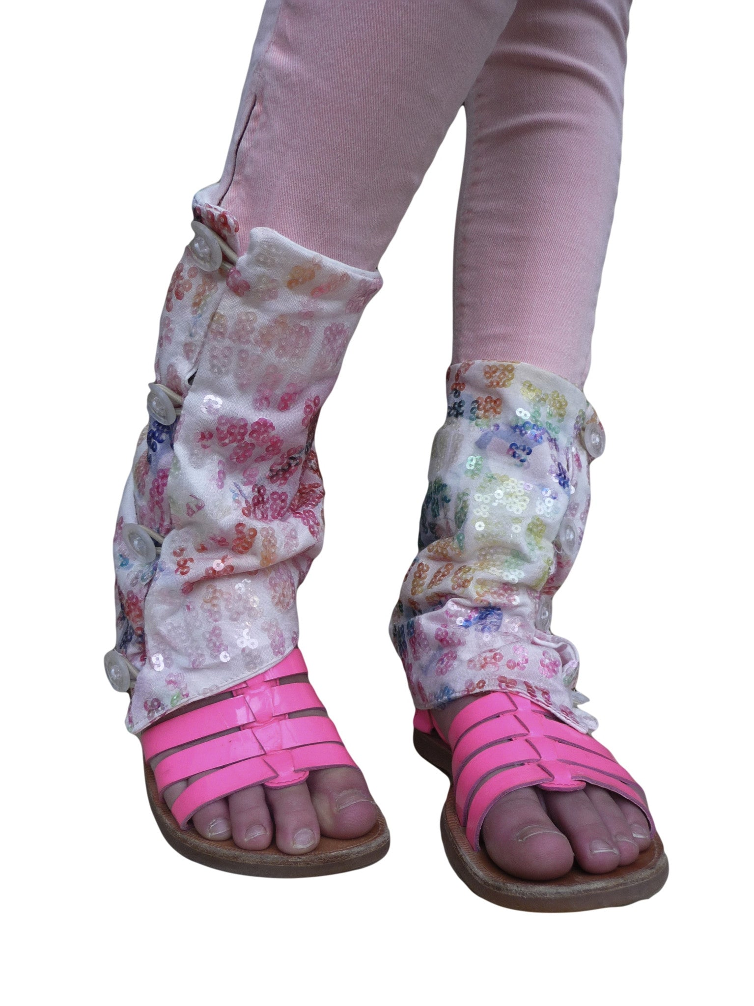 Rainbow Summer Leg Warmers