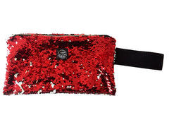 Red Sequins Clutch Bag