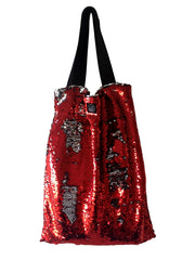 Red Sequins Square Bag