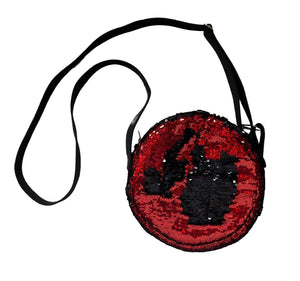 Red & Black Round Bag