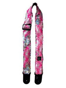 Pink Fluo Mermaid Guitar Strap
