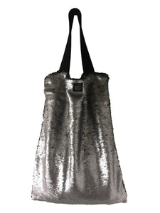 Silver sequins Square Bag