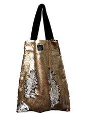 Gold Silver sequins Square Bag