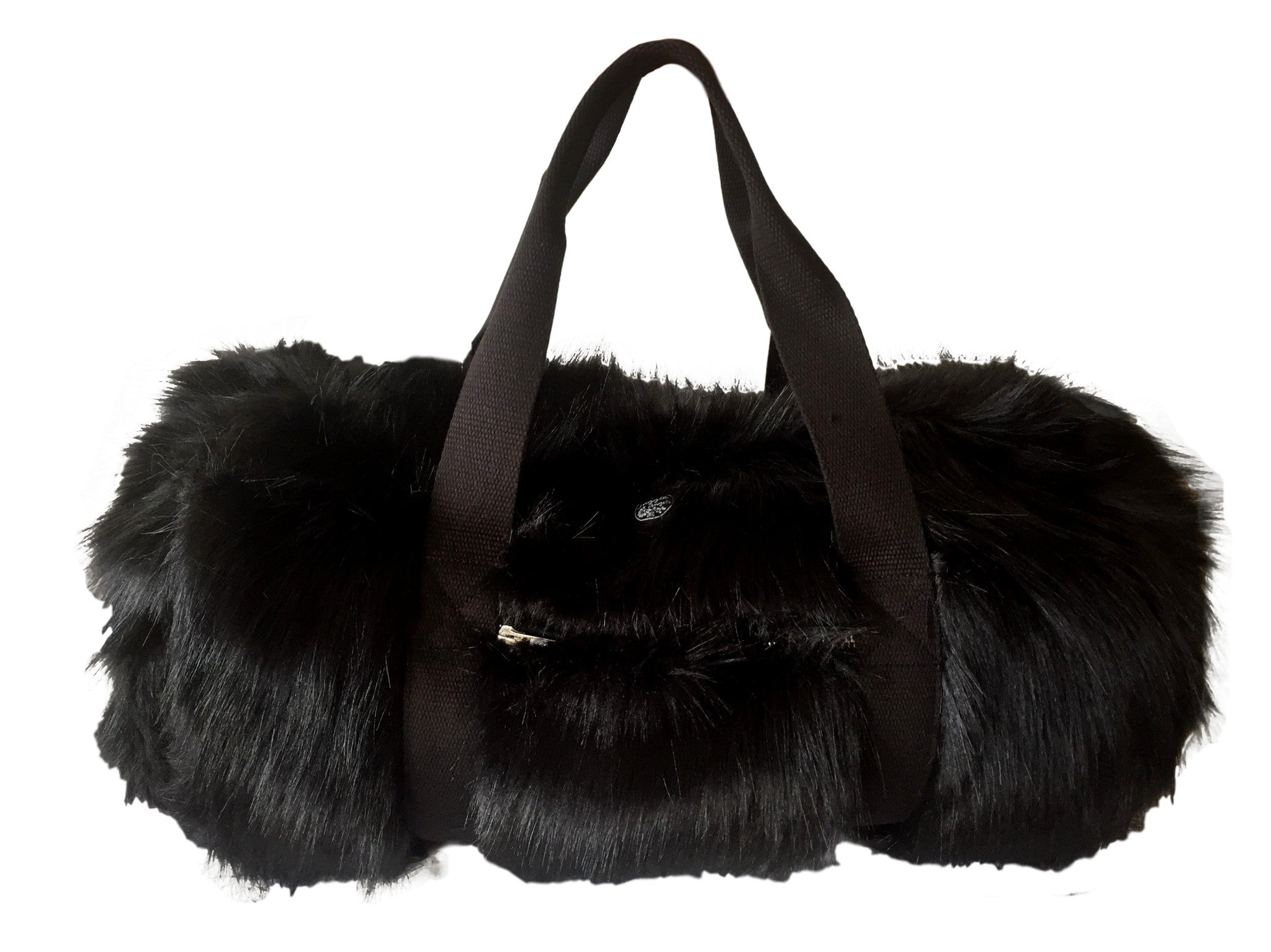 80 Black Fur Bag