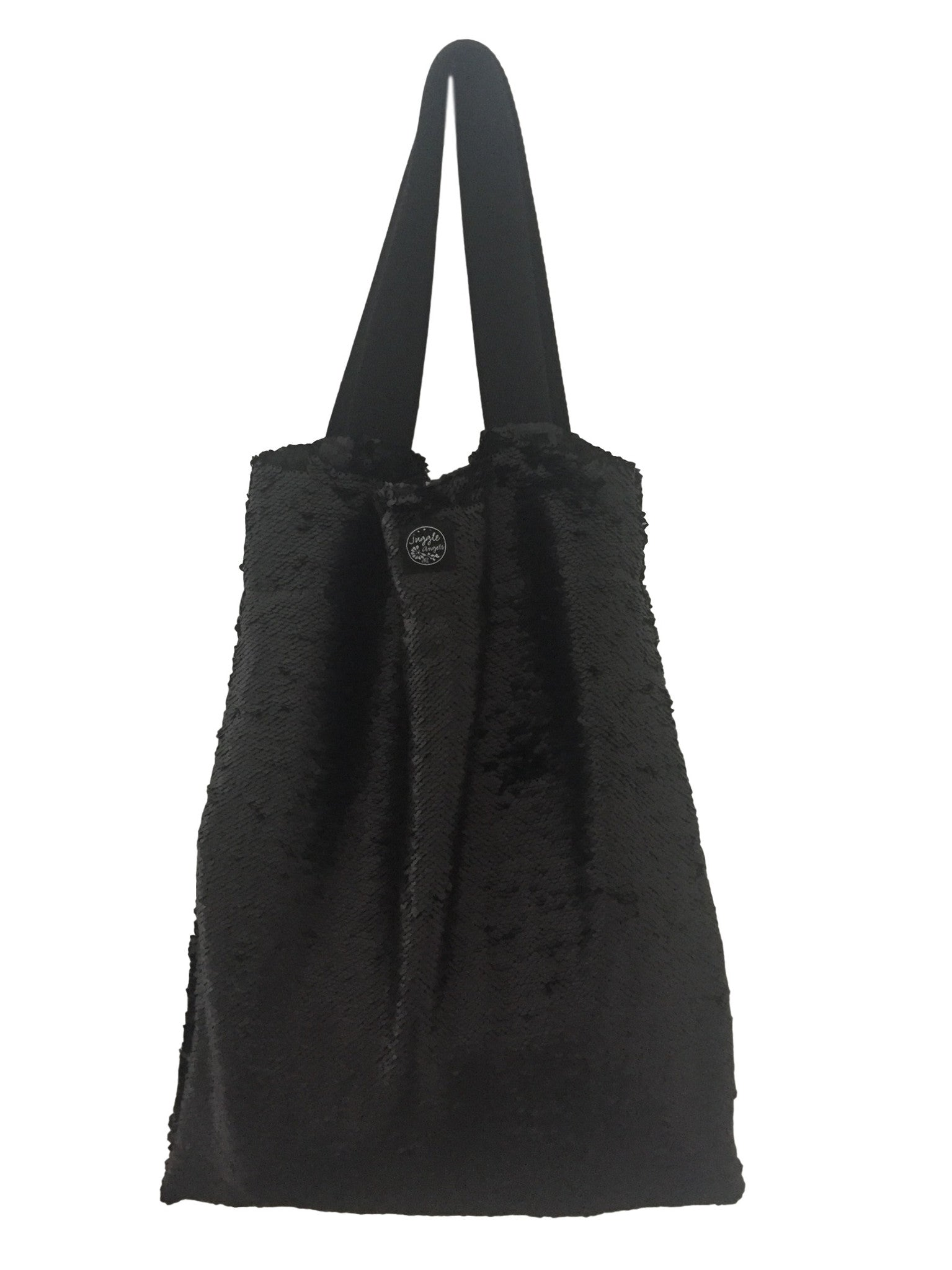 Black sequins Square Bag
