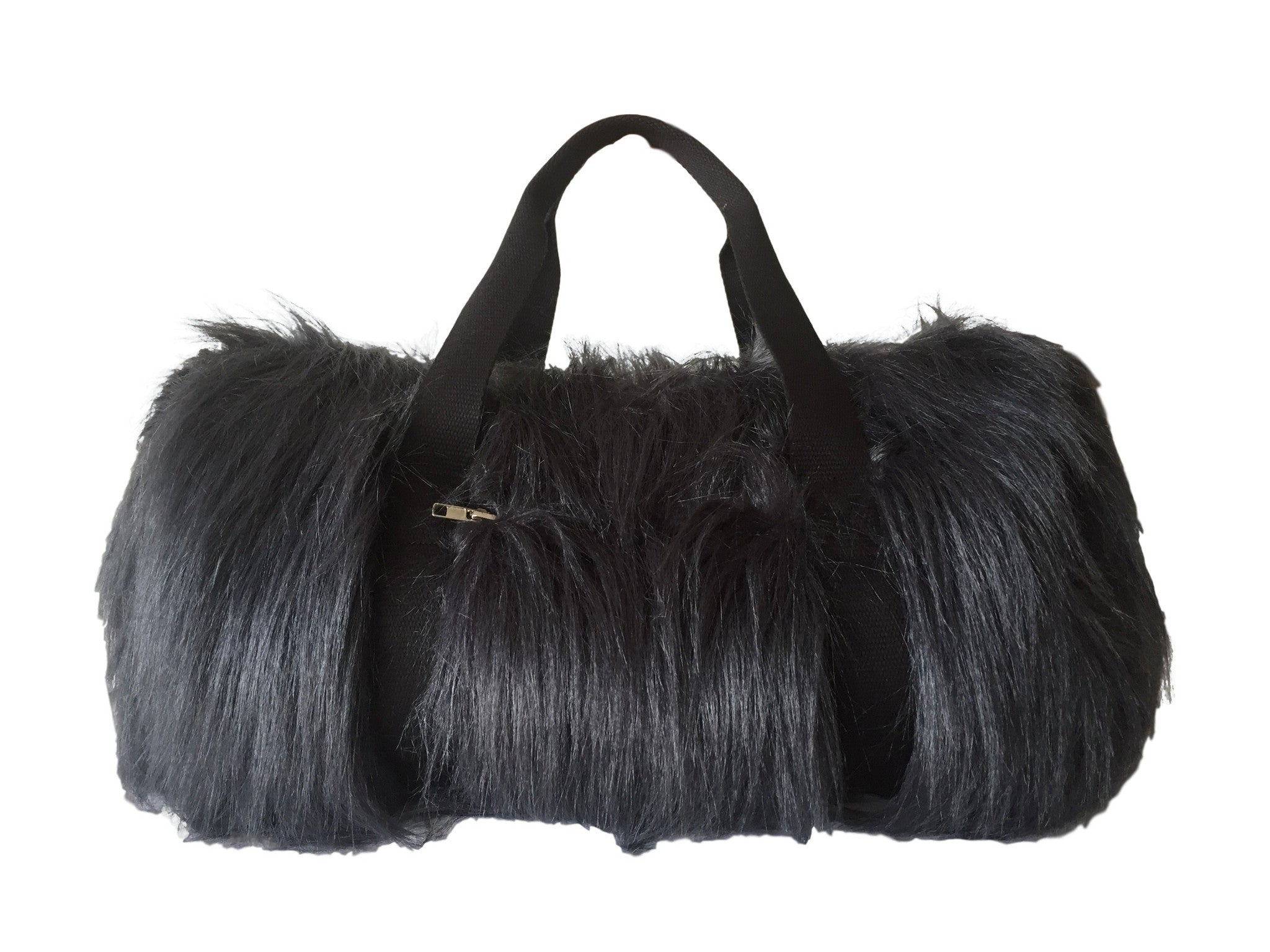 80 Grey Fur Bag