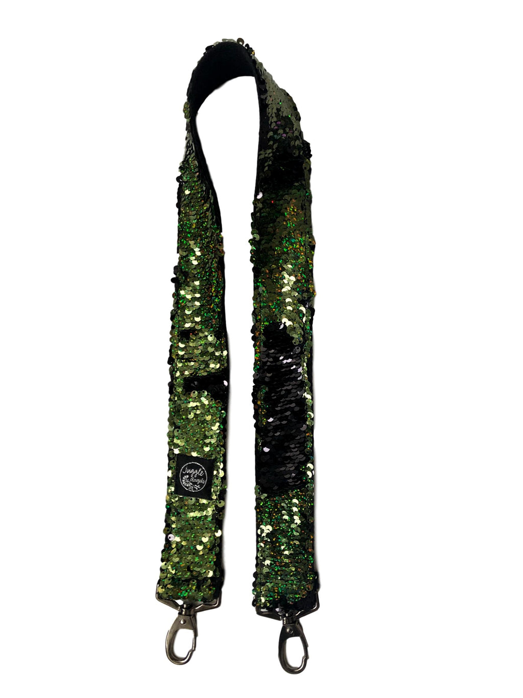 Green Sequins handbag Strap