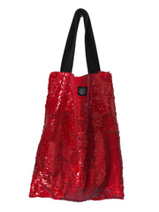 Red vernis Square Bag