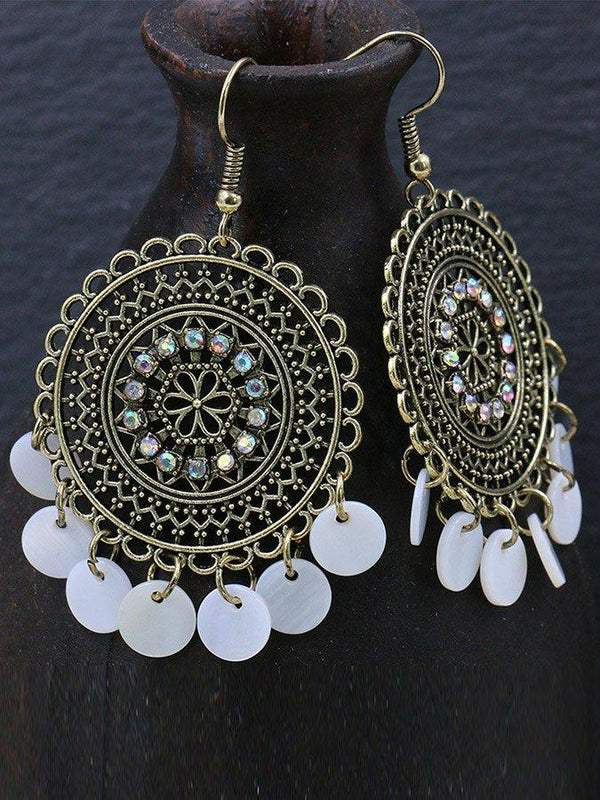 Wild shell tassel earrings