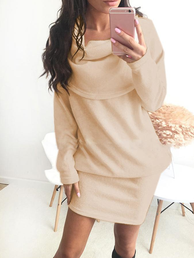 Casual Sheath Polyester Fall Dress