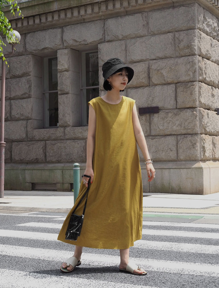 Sleeveless Color Onepiece