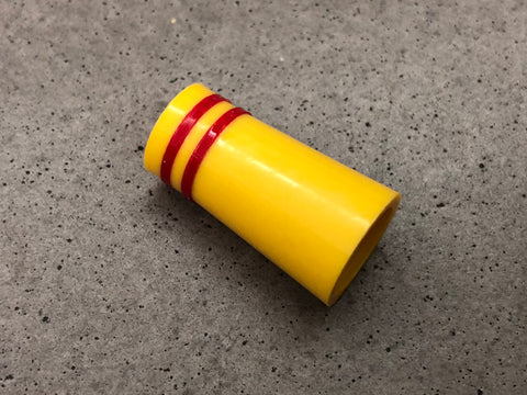 Flat-Top 12 Ferrules Yellow with Double Red Stripes - torque golf