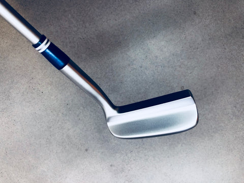 Miura Golf Putter KM-008 White Boron with Sakura Cover - Blue Edition