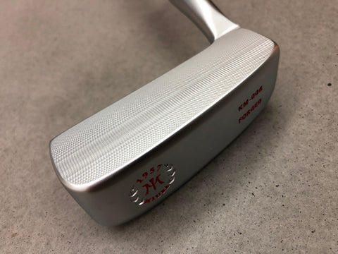 Miura Golf Putter KM-008 White Boron with Sakura Cover - Red Edition - torque golf