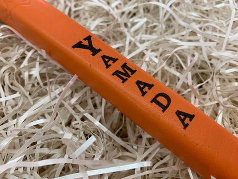 Yamada Putter Grip Leather Standard Size in Orange - torque golf