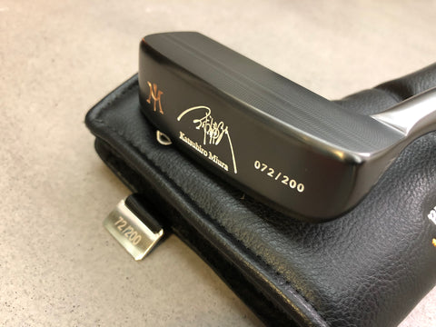 Miura Golf Putter KM-008 Black Boron with Titanium Black Putter Shaft Limited Edition - torque golf