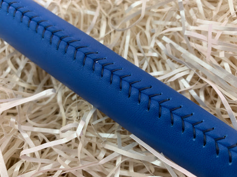 Yamada Putter Grip Leather Jumbo in Electric Blue - torque golf
