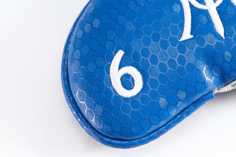 Miura Golf Limited Edition Magnetic Iron Headcover Electric Blue Magnet Honeycomb - torque golf