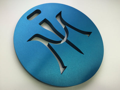 Miura Golf Bag Tag Cut Thru Logo Aluminum in Blue