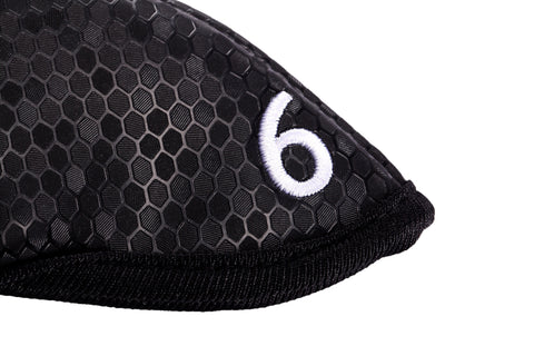 Miura Golf Magnetic Iron Headcover Black Magnet Honeycomb - torque golf