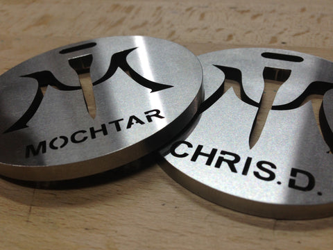 Miura Bag Tag Custom Name Stainless Steel - torque golf