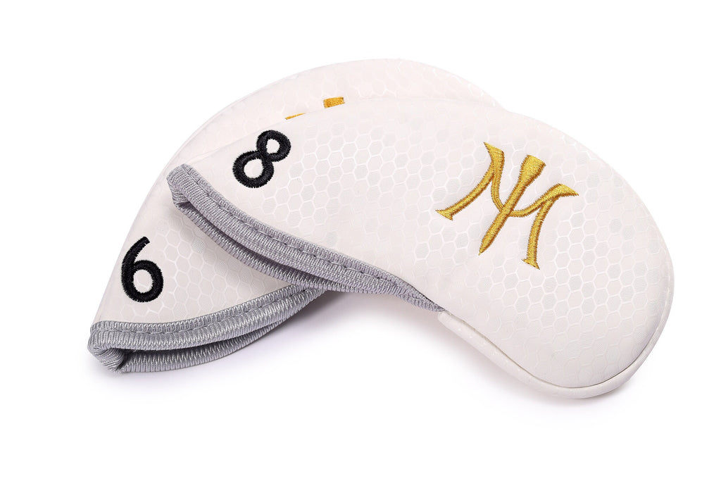 Miura Golf 2017 Magnetic Iron Headcover White Magnet Honeycomb
