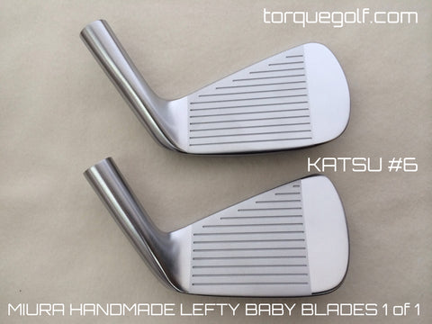 Miura Golf Katsuhiro Lefty Baby Blades 3 to P with Special 52 and 56