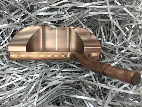 Yamada Golf Shogun Burnt Copper Handmade Putter Head Only - torque golf