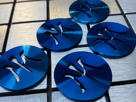 Miura Golf Ball Marker 5 Brilliant Blue - torque golf