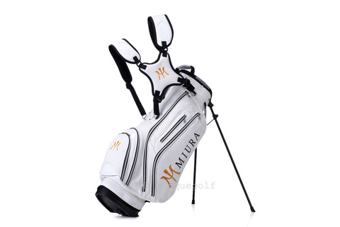 Miura Golf 2015 White Honeycomb Bag - torque golf