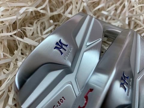 Miura Golf MC-501 Irons Red White Blue Paint Fill
