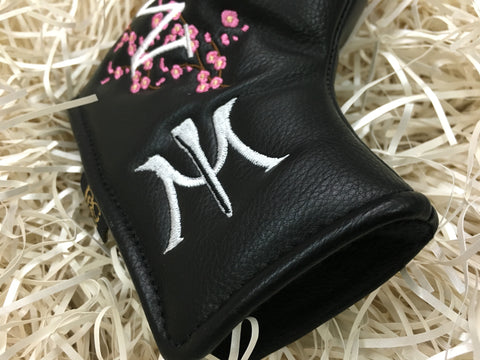 Miura Small Cherry Blossom Magnet Forged Putter Headcover - torque golf