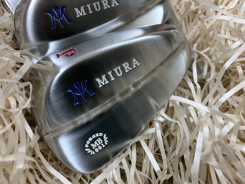 Miura Golf Irons 4 to P MB-001 Red White Blue Paint Fill