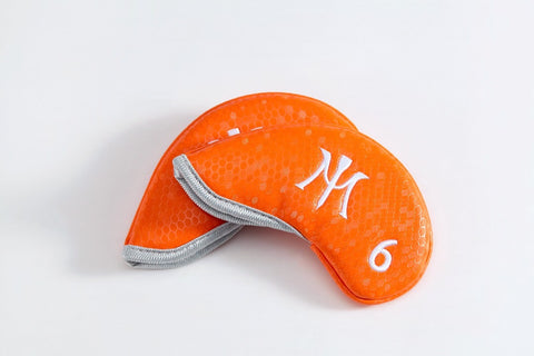 Miura Golf Limited Edition Magnetic Iron Headcover Orange Magnet Honeycomb - torque golf