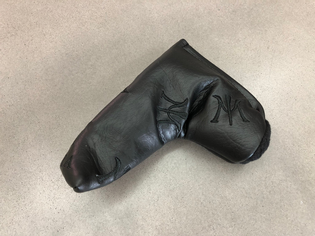 Miura 2018 Black Leather Putter Cover with Dancing Logos - torque golf