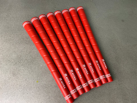 Miura Golf Grip Iron Wrap Red Set of 8