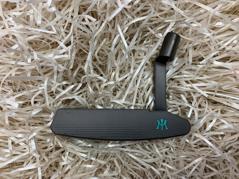 Miura Golf Putter KM-009 Black Boron Tiffany Blue - torque golf