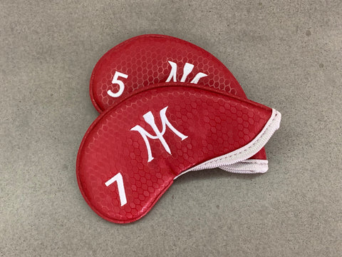 Miura Golf Headcover Iron Honeycomb Limited Edition Magnetic Red