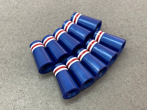 Miura Golf Baby Blade Ferrules Set of 10 Pearl Blue with White & Red Stripes - torque golf