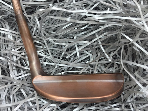 Yamada Golf Razor Burnt Copper Handmade Putter Head Only