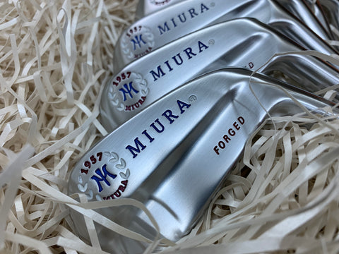Miura Golf Irons Baby Blades Red White and Blue Fill