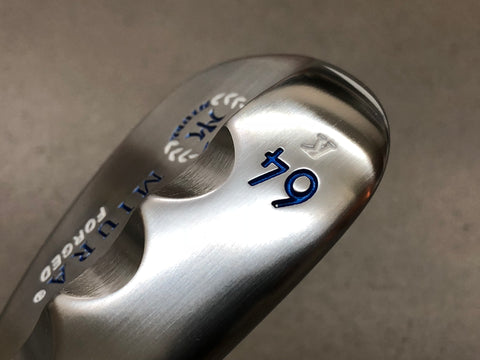 Miura Golf Custom K Grind 64 Wedge White Blue Edition - torque golf