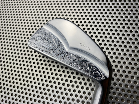 Fujimoto Golf Iron Handcrafted Signature Iura Wing Back in Satin Chrome