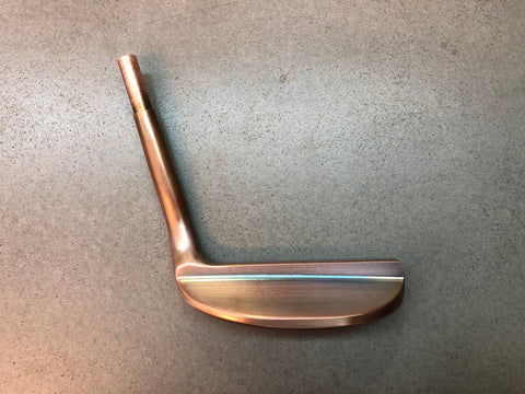 Yamada Golf Razor Burnt Copper Handmade Putter Head Only - torque golf